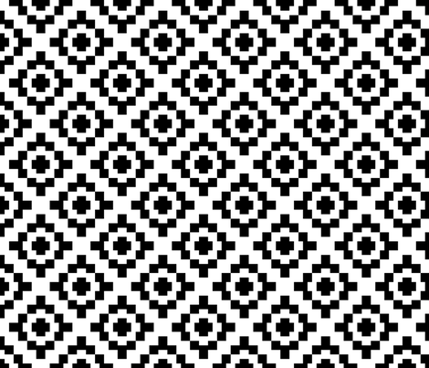 Black and White West by Southwest (limited palette)  by Su_G fabric by su_g on Spoonflower - custom fabric
