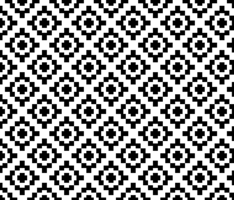 Black + White West by Southwest (limited palette)  by Su_G fabric by su_g on Spoonflower - custom fabric
