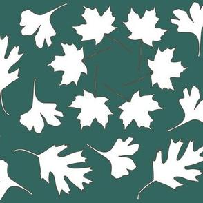 Hexagonal Pattern Leaves_ minagreen-white