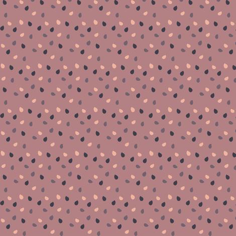 Rain in pink fabric by sawabona on Spoonflower - custom fabric
