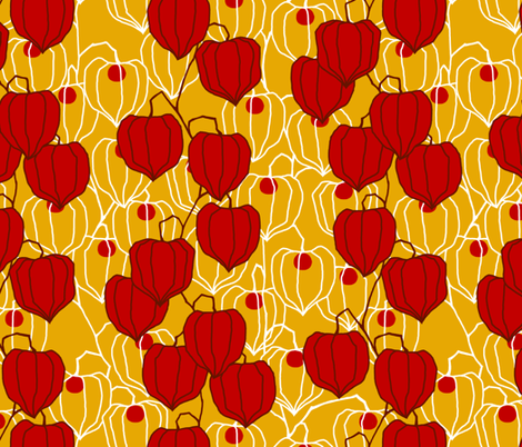Autumn Lanterns fabric by siya on Spoonflower - custom fabric