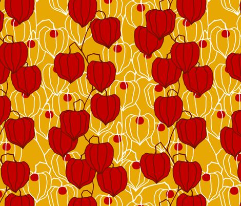 autumn lanterns fabric siya spoonflower
