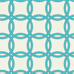 interlocking circles big turquoise