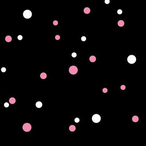 Lady Zebra: White and Pink Polka Dot Fabric