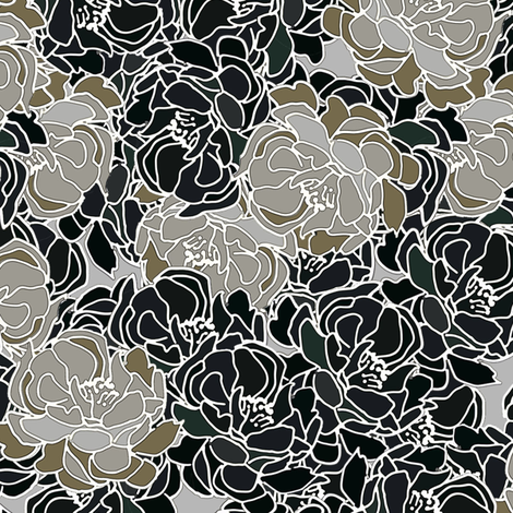 Patina Blossoms fabric by joanmclemore on Spoonflower - custom fabric