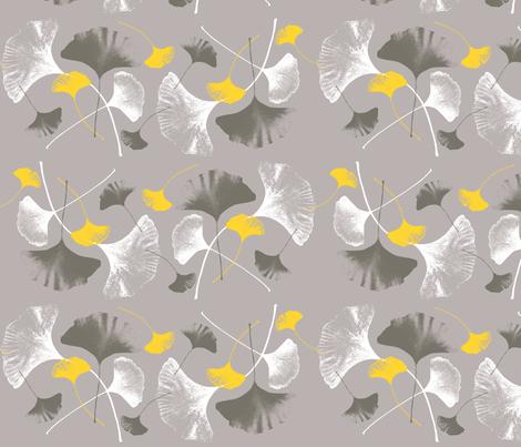 Ginkgo Leaves fabric by yooliadesign on Spoonflower - custom fabric