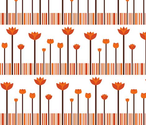 autumn garden fabric by suziedesign on Spoonflower - custom fabric