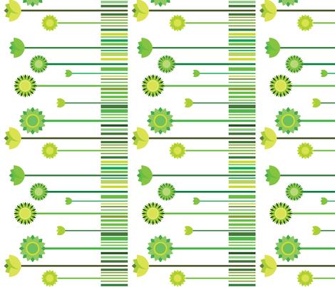 flower garden fabric by suziedesign on Spoonflower - custom fabric