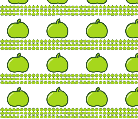 green apples fabric by suziedesign on Spoonflower - custom fabric