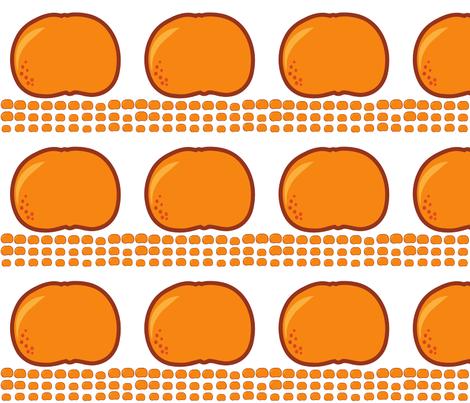 orange fabric by suziedesign on Spoonflower - custom fabric