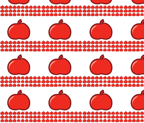 red apple fabric by suziedesign on Spoonflower - custom fabric