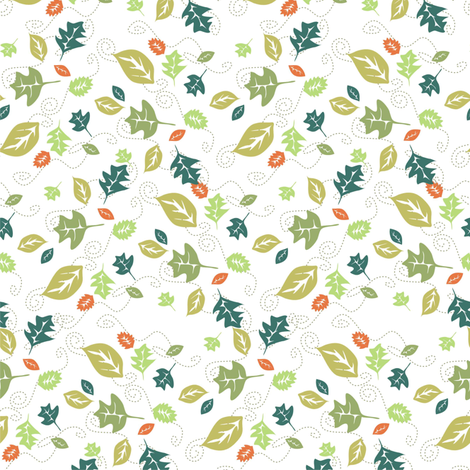 Leaves 2 fabric by lulakiti on Spoonflower - custom fabric