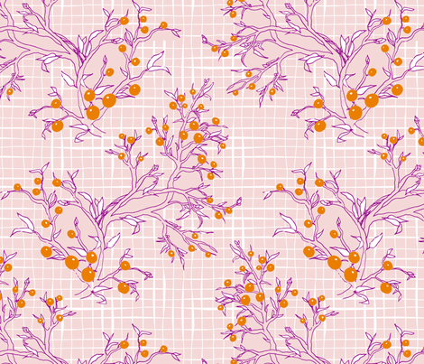 Autumn Berries fabric by mrshervi on Spoonflower - custom fabric