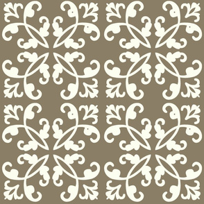 Ivory on Wheat Weave