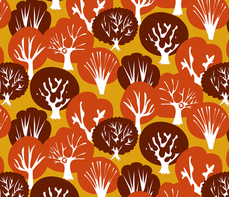 Oh, Magnificent Trees! fabric by fussypants on Spoonflower - custom fabric