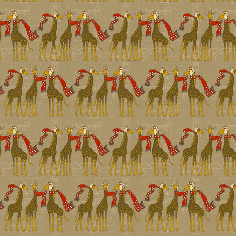 flightschool_safari_red_small fabric by holli_zollinger on Spoonflower - custom fabric