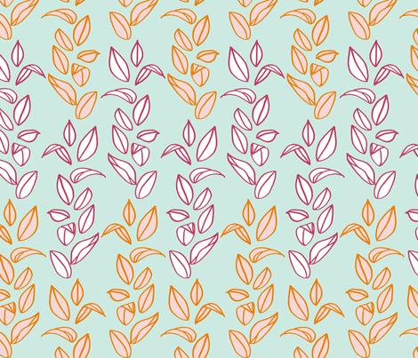 leaves fabric by mrshervi on Spoonflower - custom fabric