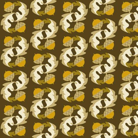 acorn & oak leaf fabric by cindylindgren on Spoonflower - custom fabric