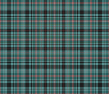 Teal, Black and Peach Plaid fabric by eclectic_house on Spoonflower - custom fabric