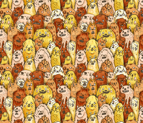 Dogs fabric by philippa_rice on Spoonflower - custom fabric