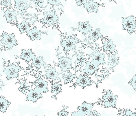 Large Blossoms fabric by dna2011 on Spoonflower - custom fabric