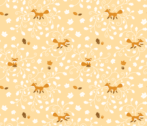 Fall is for Foxes fabric by jgreenwalt on Spoonflower - custom fabric