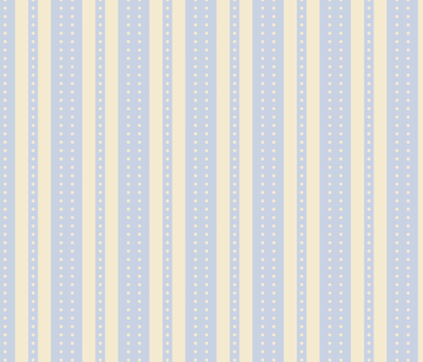 Stripes and Dots - Sky and Ivory fabric by glimmericks on Spoonflower - custom fabric
