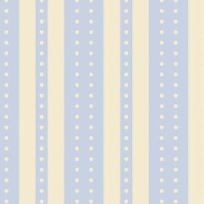 Stripes and Dots - Sky and Ivory