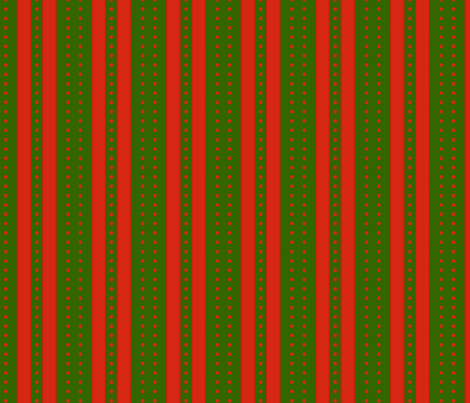 Stripes and Dots - Green Red fabric by glimmericks on Spoonflower - custom fabric