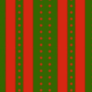 Stripes and Dots - Green Red