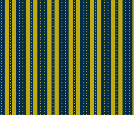 Stripes and Dots - marine gold fabric by glimmericks on Spoonflower - custom fabric