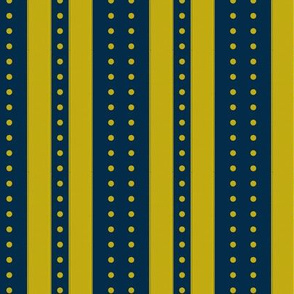 Stripes and Dots - marine gold