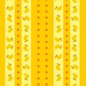 Stripes and Dots - Rubber Ducky