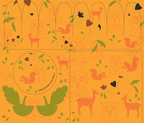 Jack O'lantern cut and sew with Hankerchief fabric by nikky on Spoonflower - custom fabric