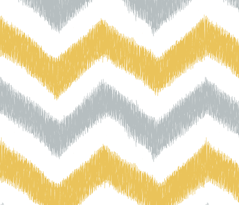 Chevron Ikat fabric by pattysloniger on Spoonflower - custom fabric
