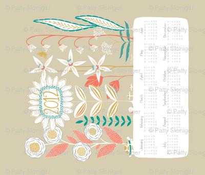 2012 Wildflowers Calendar - Fresh Picked Colorway