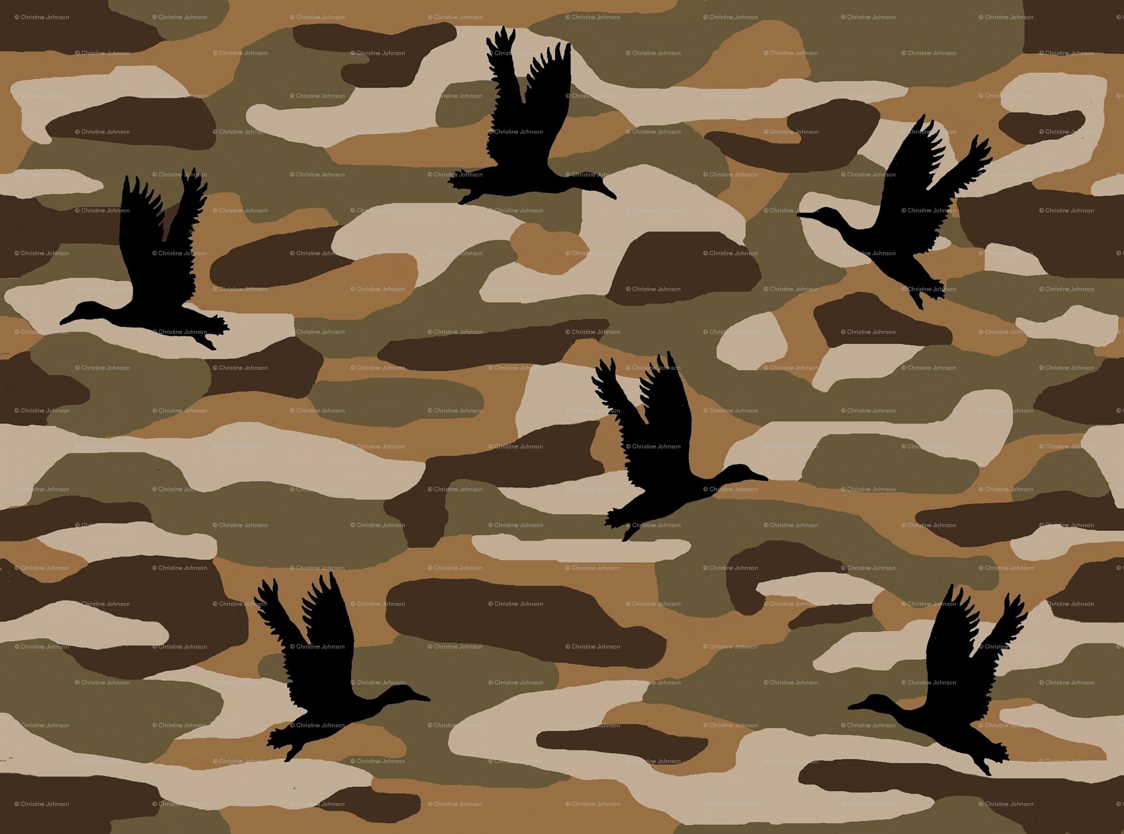 Duck Hunting Camo Wallpaper