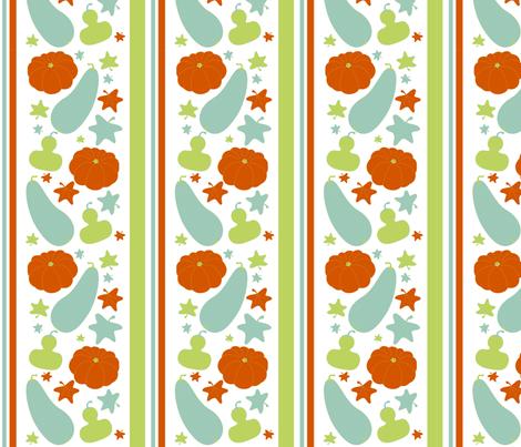 Fall Squash Stripe fabric by mayabella on Spoonflower - custom fabric