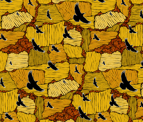 As the Crow Flies fabric by ceanirminger on Spoonflower - custom fabric