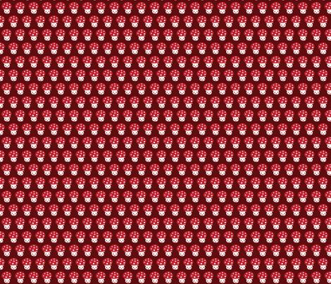 Little red mushroom fabric by bora on Spoonflower - custom fabric