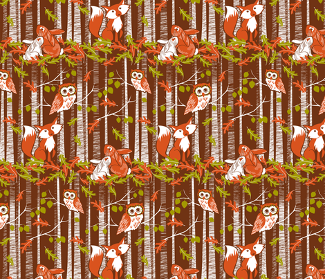 Autumn in the forest  fabric by cjldesigns on Spoonflower - custom fabric