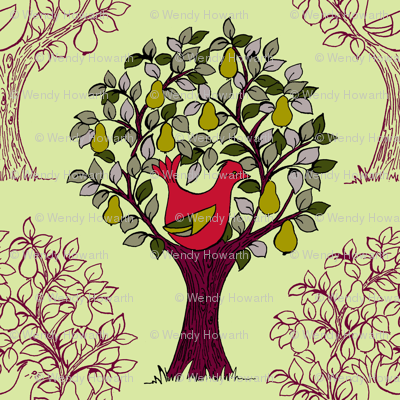 And a Partridge in a Pear Tree - Green