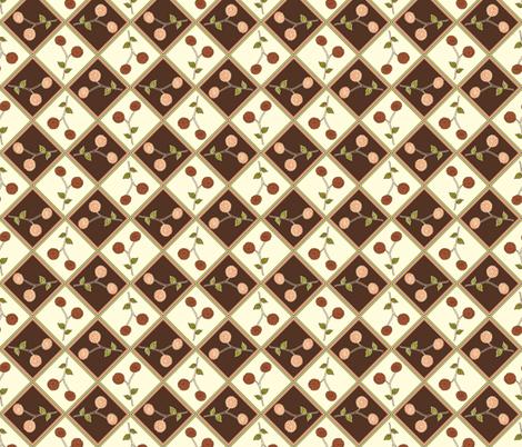 Antique Autumn Dahlia fabric by rhondadesigns on Spoonflower - custom fabric