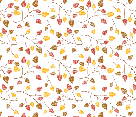 Autumn leaves blowing in the wind fabric by madex on Spoonflower - custom fabric