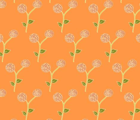 Sunrise Blooms in Dad's Dahlia Garden fabric by rhondadesigns on Spoonflower - custom fabric