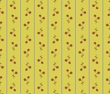 Dahlia Falls ~ Green & Gold Stripe.  fabric by rhondadesigns on Spoonflower - custom fabric