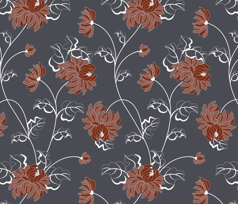 Chrysantemum - flower of the autumn fabric by andrea11 on Spoonflower - custom fabric