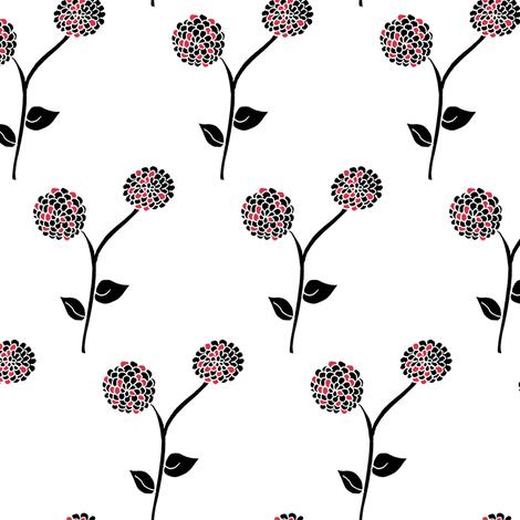 Frosted Dahlia Garden  fabric by rhondadesigns on Spoonflower - custom fabric