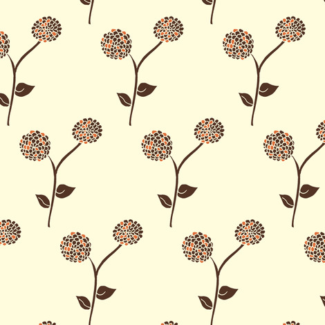 Antique Dahlia Garden - Autumn Memories ( 3 colours ) fabric by rhondadesigns on Spoonflower - custom fabric