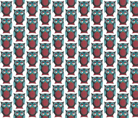 Owlivia the Owl fabric by meg56003 on Spoonflower - custom fabric